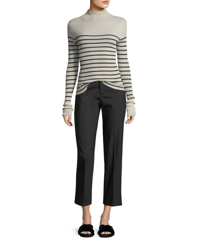 High-Waist Coin Pocket Straight-Leg Pants and Matching Items