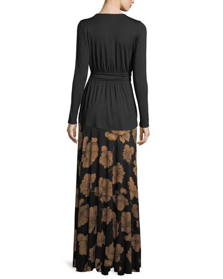 Long Printed Full Skirt, Matilija