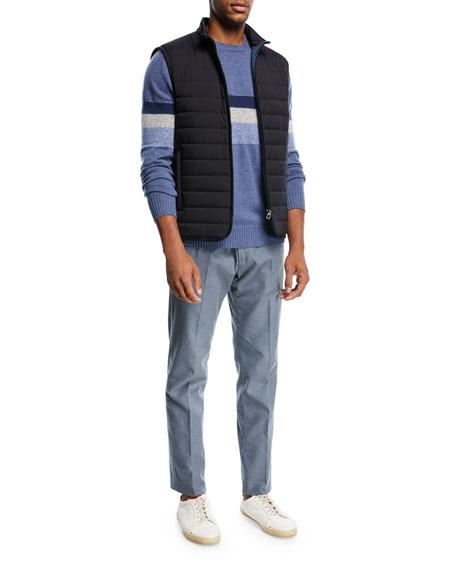Slim Cotton Flannel Pants