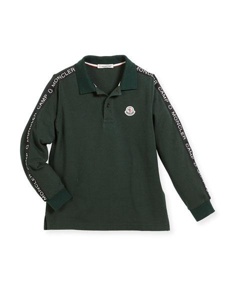 Maglia Long-Sleeve Logo Polo, Size 4-6