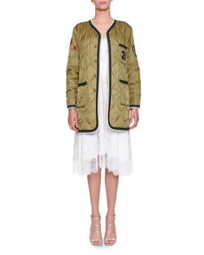 Sleeveless Lace Poplin Midi Dress and Matching Items