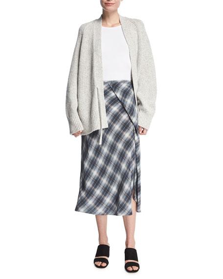 Marled Knit Raglan Oversized Cardigan