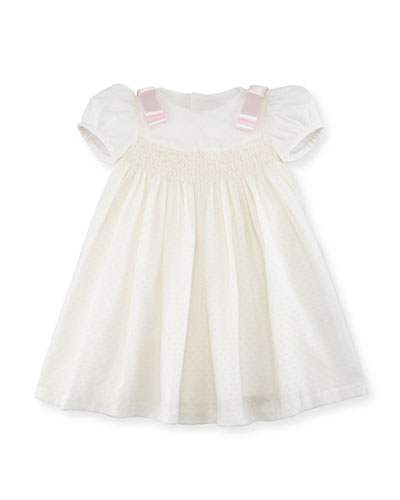 Ribbon Dotted-Tulle Dress, Size 3-24 Months  and Matching Items