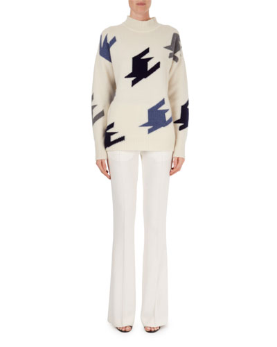 High-Waist Flared Trousers and Matching Items