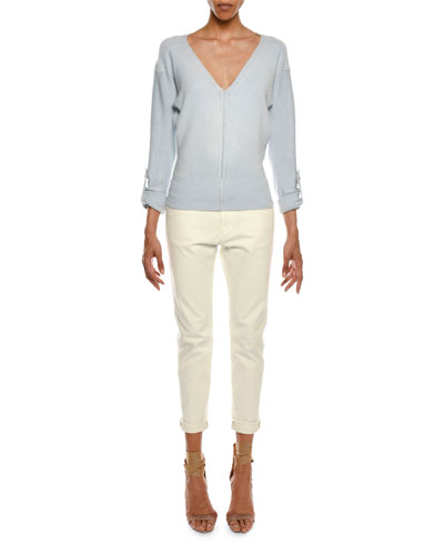 Mid-Rise Cropped Boyfriend-Style Jeans and Matching Items