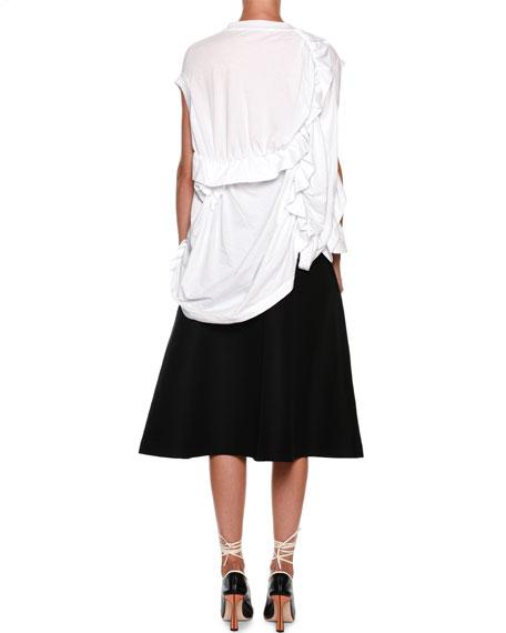 Mid-Calf Circle Cotton Woven Skirt