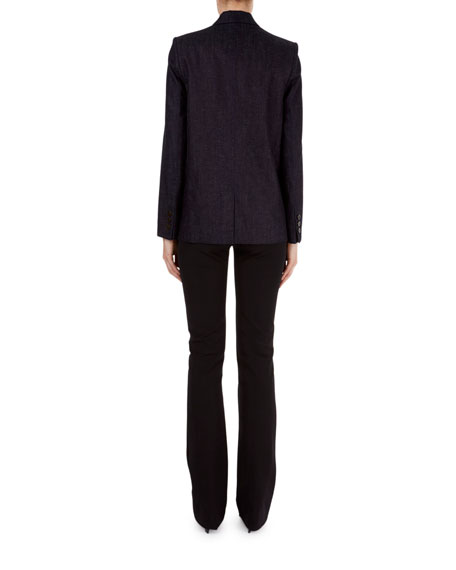 Slim-Leg Flat-Front Pants