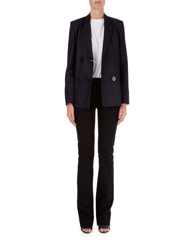 Double-Breasted Blazer & Slim-Leg Pants