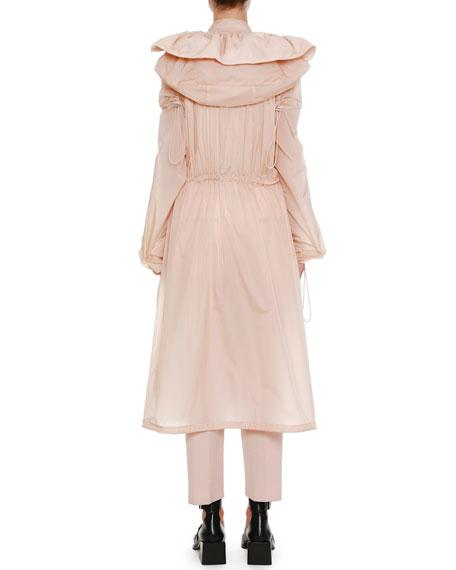 Below-the-Knee Anorak Jacket with Drawstrings