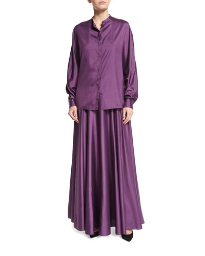 Ladia Mid-Rise Full Skirt, Grape and Matching Items