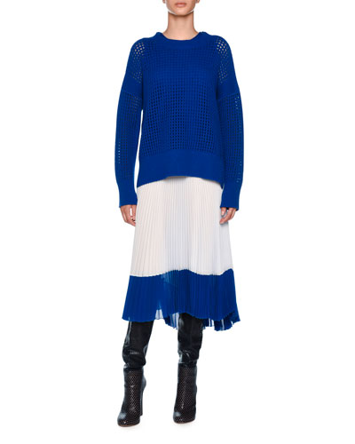 Crewneck Sleeveless Cashmere Knit Top and Matching Items