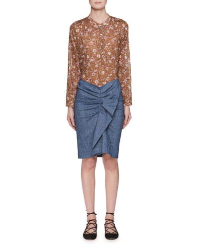 Ornela Ruffle Chambray Skirt and Matching Items