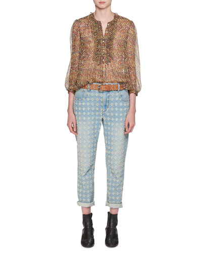 Corliff Girlfriend Straight-Leg Jeans and Matching Items