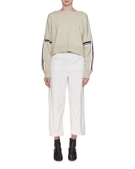 Kao Boat-Neck Sweater with Stripes
