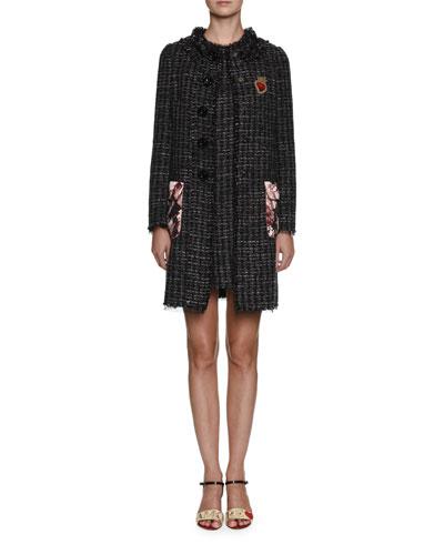 Sleeveless Crewneck Tweed Mini Dress and Matching Items