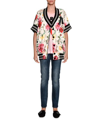 Sacred Heart Low-Rise Faded Mid-Wash Denim Jeans and Matching Items