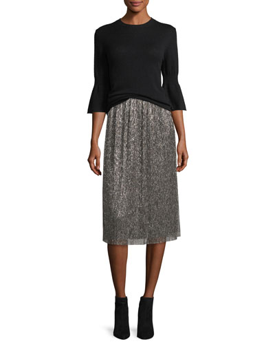 Metallic Jersey Midi Skirt and Matching Items