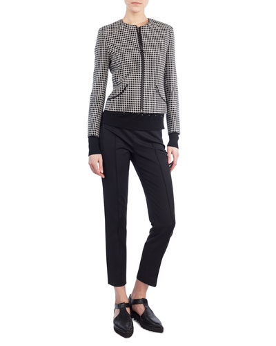 Zip-Front Grid Jacket and Matching Items