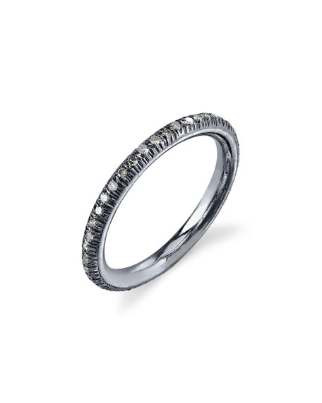 Pave Diamond Stacking Band Ring, Size 8.5