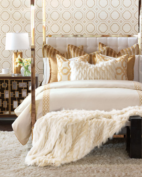 Luxe gold and cream bedroom