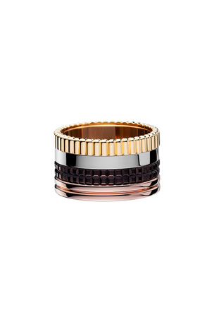 Boucheron Classic Quatre 18k Gold Large Band Ring, Size 55