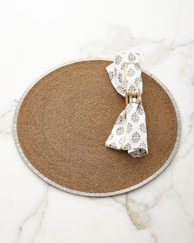 Bugle Bead Placemat  and Matching Items
