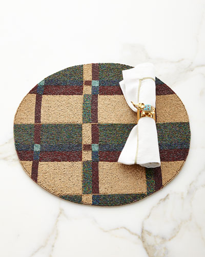 Plaid Placemat  and Matching Items
