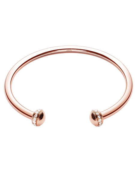 Possession Medium Bracelet with Diamonds in 18K Red Gold, Size M