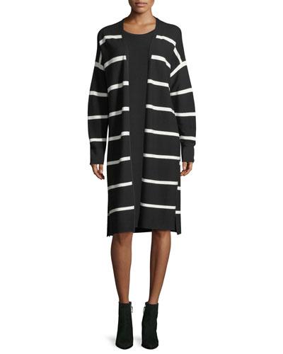 Matte Crepe Sweater Dress w/Links Stitching and Matching Items