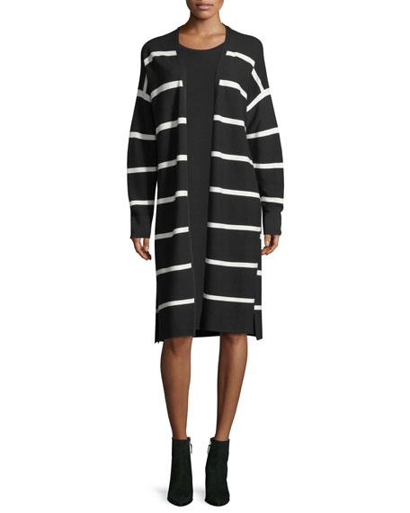 Matte Crepe Sweater Dress w/Links Stitching