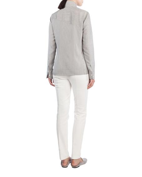 Melissa Ankle-Zip Skinny Pants, Ivory