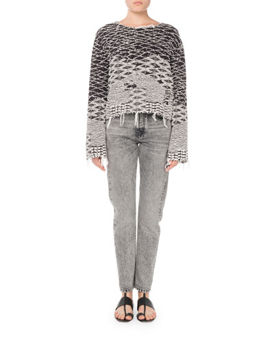 Raw-Edge Pullover Sweater and Matching Items