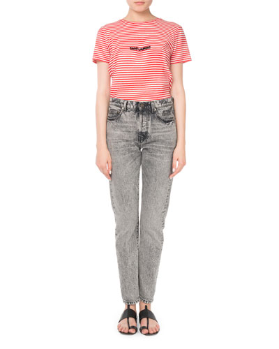 Mid-Rise 5-Pocket Straight-Leg Jeans and Matching Items