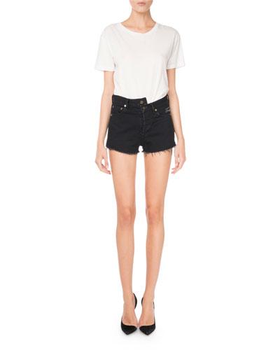 Origami-Waist 5-Pocket Denim Shorts and Matching Items
