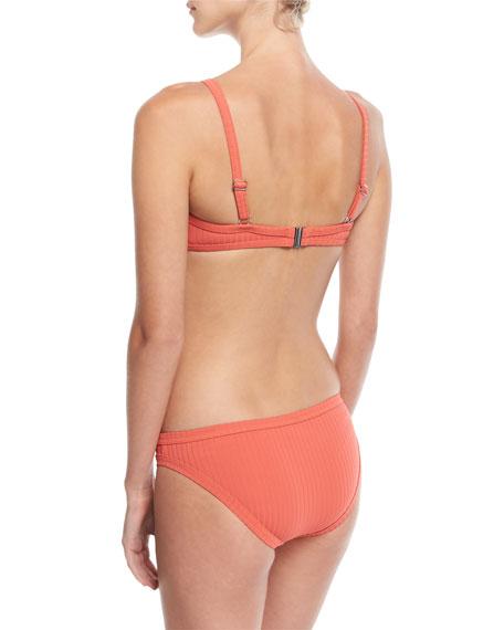 Inka Ribbed Lace-Up Bralette Swim Top