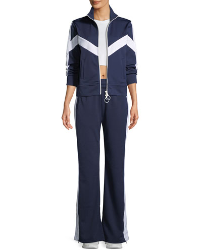 Pull-On Flared Side-Stripe Track Pants and Matching Items