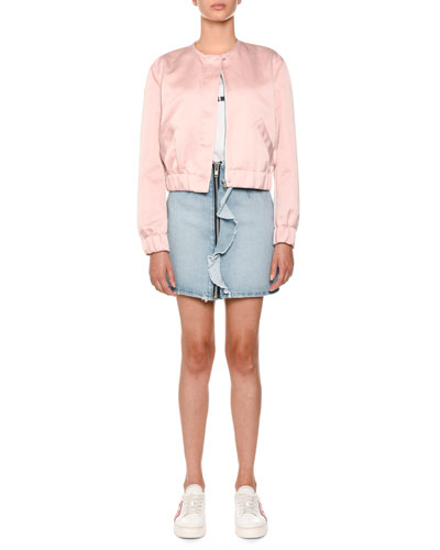 Zip-Front Denim Skirt and Matching Items