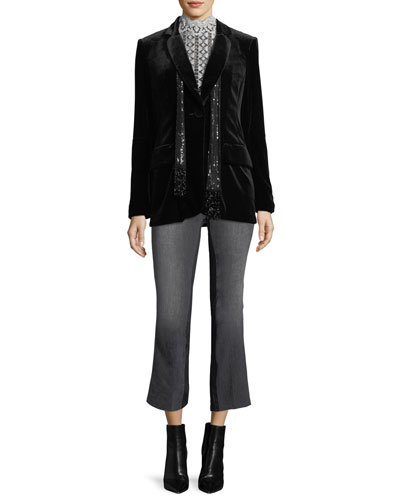Illusionist Velvet Blazer Jacket and Matching Items