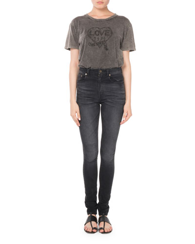 High-Waist Skinny-Leg Jeans and Matching Items
