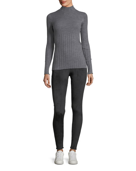 Long-Sleeve Ribbed Turtleneck Sweater