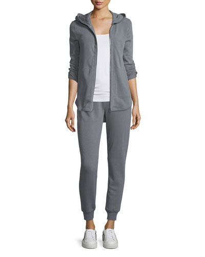 Zip-Front French Terry Hoodie  and Matching Items