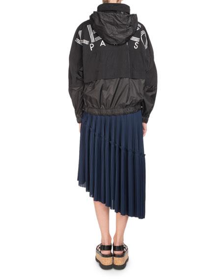 Zip-Front Logo Wind-Resistant Jacket