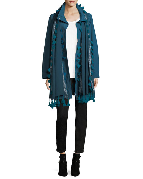 Organic Cotton-Blend Hooded Jacket