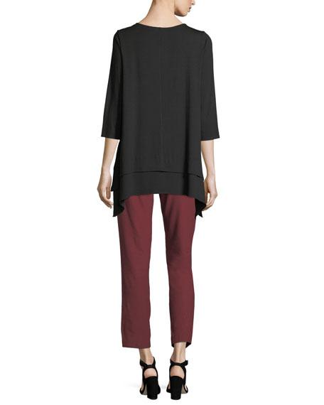 3/4-Sleeve Jersey Tunic