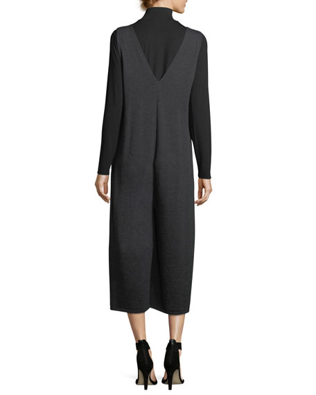 Mock-Neck Long-Sleeve Jersey Top