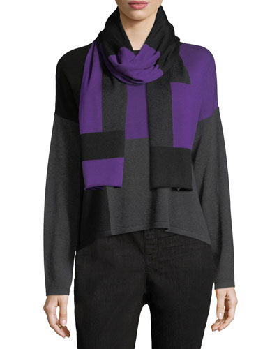Colorblock Tencel®-Blend Scarf and Matching Items