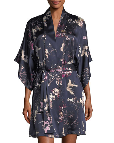 Pandora Floral-Print Silk Robe and Matching Items