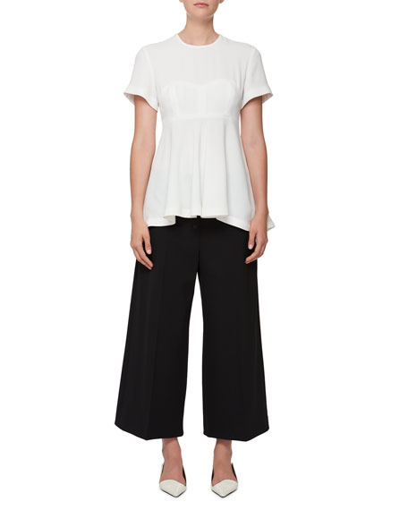 Flared Lace-Trim Pants