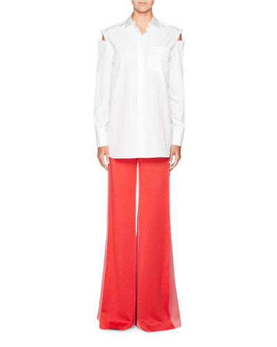 Wide-Leg Hammered Satin Pants and Matching Items