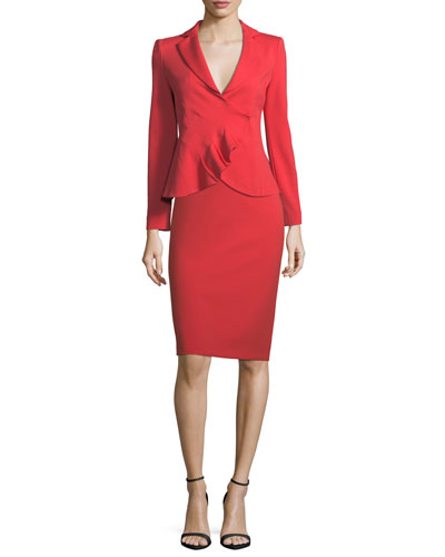 Garden Rose Asymmetrical Ruched Jacket and Matching Items